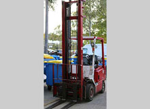 Hyster Red gas forklift